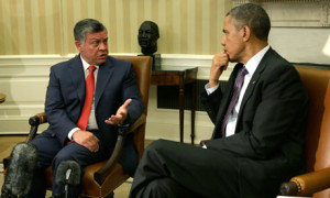 Barack Obama with King Abdullah of Jordan
