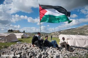 Al Manatir protest village, Burin, West Bank, 2.2.2013