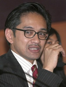 Handout photo of Foreign Minister Marty Natalegawa in Jakarta