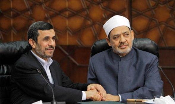 ahmadinejad dan grand shaikh al azhar