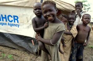 Refugee children in Yusuf Batil camp in South Sudan's Upper Nile state.