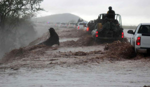 """Rains caused by """"Manuel"""" keep affecting Northern Mexico"""
