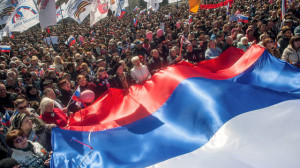 Pro-Russia protesters demonstrate in Ukraine