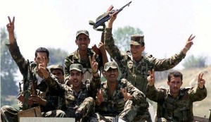 Syrian army pounds militant positions