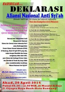 undangan deklarasi anti syiah