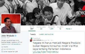 Akun Twitter Jokowi: @jokowi_do2