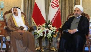 محادثات خاصة بین الرئیس الایراني وامیر الکویت