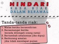 Hikmah Ramadhan (7) : Belajar Menghindari Riya
