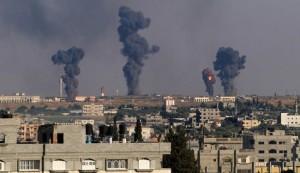 الطيران الحربي الاسرائيلي يشن عشرات غارات على قطاع غزة