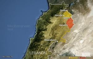 arsal-map lebanon