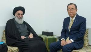 UN's Ban seeks advice on Iraq crisis from Ayatollah Sistani