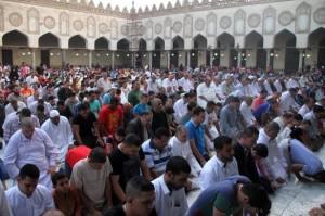 Shalat Id di Masjid Al-Azhar