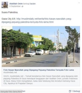 Postingan di fb yang dihapus Onim