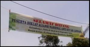 Spanduk Diklat ANNAS di Jalan Cigara, foto: Liputan Islam