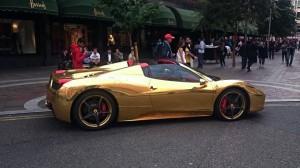 pamerah mobil mewah arab di london