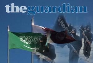 the guardian qatar-and-saudi-flag