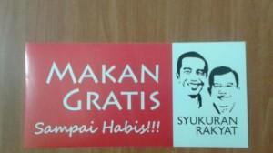 Sticker makanan gratis