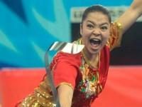 illustrasi atlet wushu Indonesia Juwita Niza Wasmi