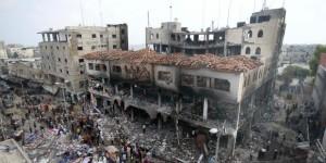 palestina bangunan hancur di gaza