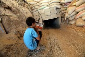 Smuggling tunnel at Rafah border