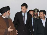 Sayyid Hassan Nasrallah, Bashar al-Assad, dan Mahmoud Ahmadinejad