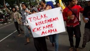 tolak kekerasan atas nama agama, foto: tempo.co
