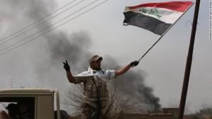 bendera irak di tikrit