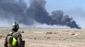ladang minyak terbakar di irak