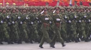 parade militer cina