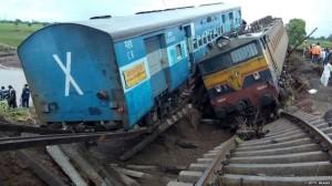kereta api anjlok india