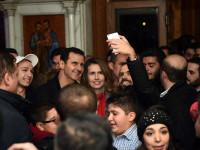 Kejutan! Assad dan Istri Kunjungi Gereja Damaskus