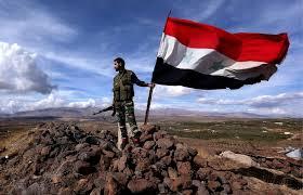 bendera suriah di utara aleppo