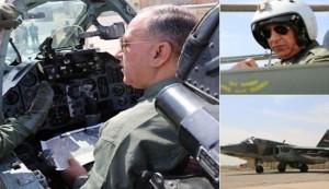 """العبيدي يقود """"شخصيا"""" طائرة F16 لقصف """"داعش"""" بالفلوجة+صورة"""