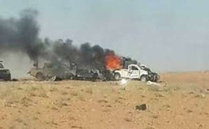 mobil isis terbakar