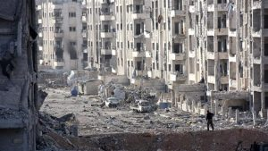 Bagian kota Aleppo yang hancur akibat perang (AFP/presstv)