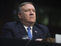 CIA Director Mike Pompeo testifies on worldwide threats during a Senate Intelligence Committee hearing on Capitol Hill in Washington, DC, February 13, 2018. / AFP PHOTO / SAUL LOEB        (Photo credit should read SAUL LOEB/AFP/Getty Images)