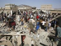 Potret serangan koalisi saudi di Yaman pada Juni lalu. Sumber: IFP
