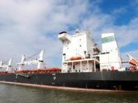 Potret kapal kargo Iran usai lepas landas dari perairan Brazil.