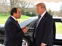 Presiden Mesir, El-Sisi, saat bertemu dengan Presiden As, Donald Trump, di Washington pada 3 April 2017. Sumber: Memo