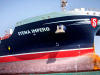 "Potret tanker Inggris ""Stena Impero"". Sumber: Reuters"