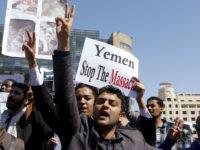 Potret raykat Yaman menentang agresi dan pembantaian koalisi pimpinan Saudi di Yaman. Sumber: The Nation