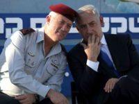 Benny Gantz, pimpinan aliansi Yisrael Beitainu bersama dengan Perdana Menteri Israel, Benjamin Netanyahu.