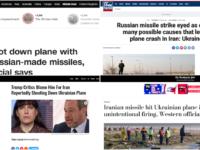 Media Barat Ciptakan Narasi Insiden Pesawat untuk Jatuhkan Iran dan Rusia