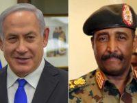 Perdana Menteri Israel, Benjamin Netanyahu (kiri) dan Abdel Fattah Al-Burhan, Presiden Dewan Transisi Sudan. Sumber(Al-Alam)