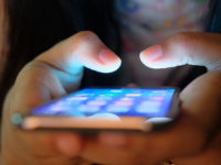 Women use mobile application software on smartphone phone .