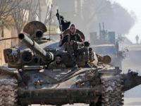 Militan yang didukung Turki di Provinsi Idlib pada 27 Februari 2020. © AFP / Bakr Alkasem
