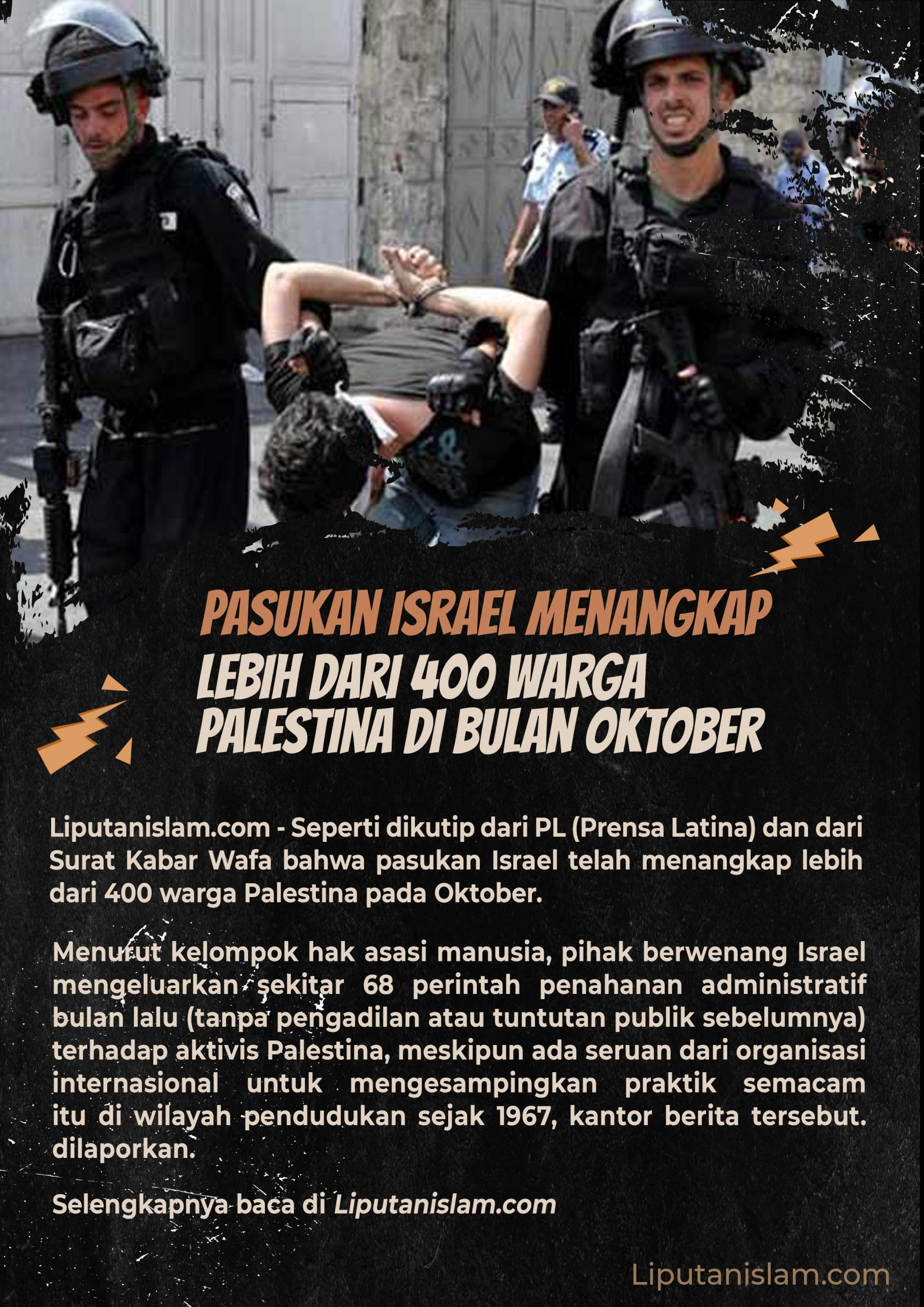 Berita Gambar Pasukan Israel Menangkap Lebih dari 400 ...